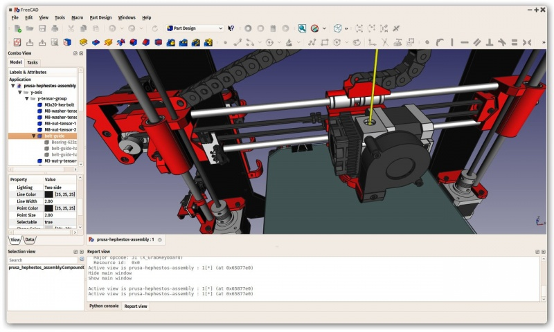 L'interfaccia di FreeCAD