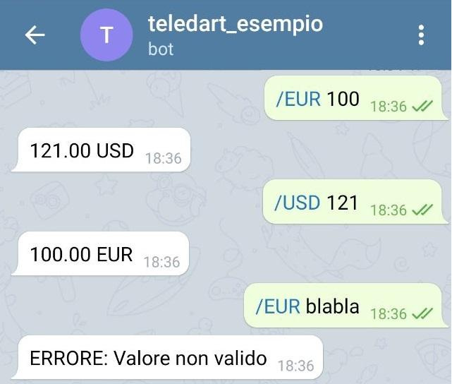 Conversione di valuta con i Telegram Bot in Dart