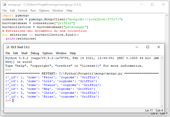 Estrazione di dati con find()