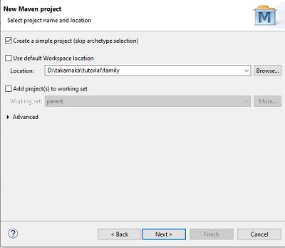 Maven project passo 1