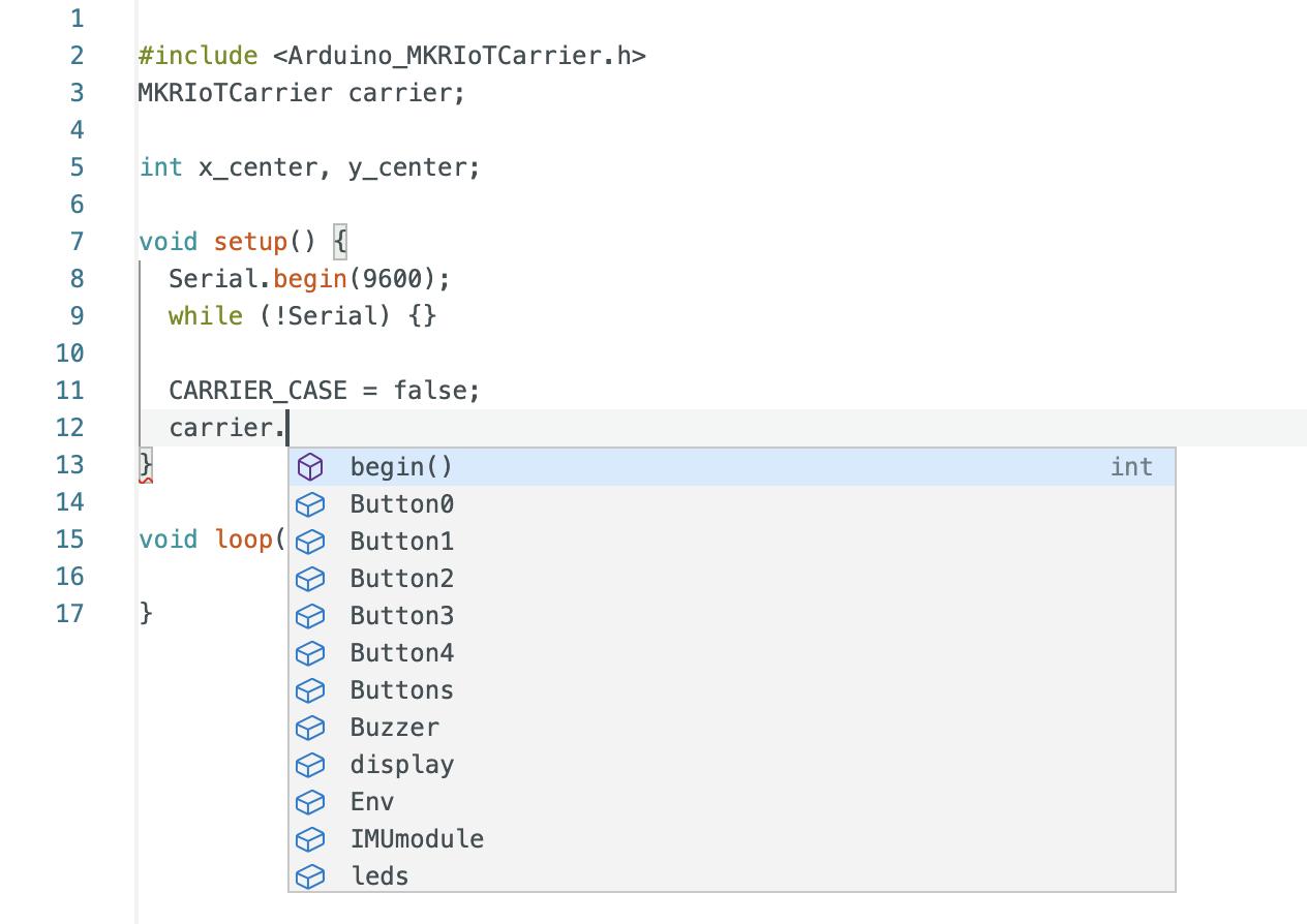 Arduino IDE: autocompletamento
