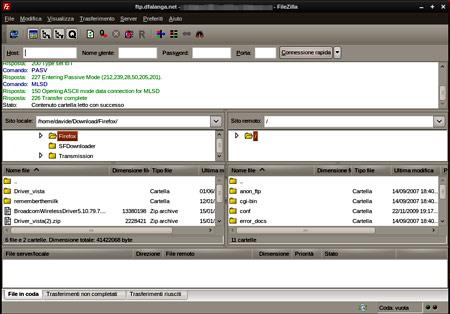 Client FTP: Filezilla