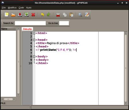 Programmazione Web gPHPedit