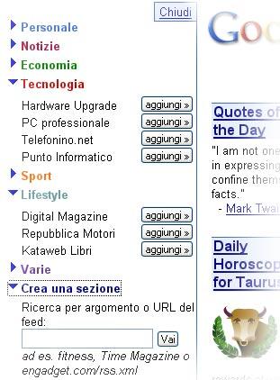 Contenuti su Google