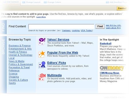 Contenuti su Yahoo!