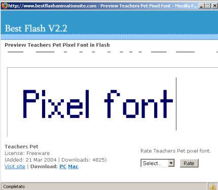 Esempio di pixel-font