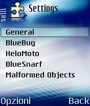 Blooover II: selezione della vulnerabilità da eseguire