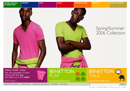 Sito Benetton in inglese