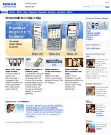 Sito Nokia Italia