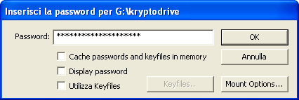 Scelta della password