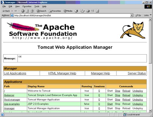 Web Application Manager