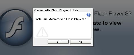 Aggiornamento del Flash Player