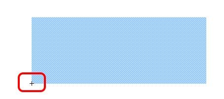 Il rettangolo posizionato con il centro in basso a sinistra