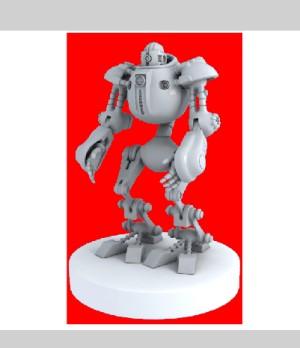 Robot posizionato sopra al rettangolo