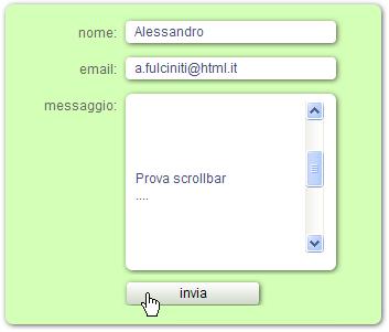 Screenshot del form
