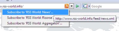 Firefox 2 Scelta feed