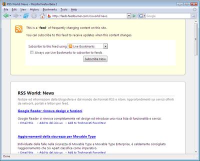 Firefox 2 Feed