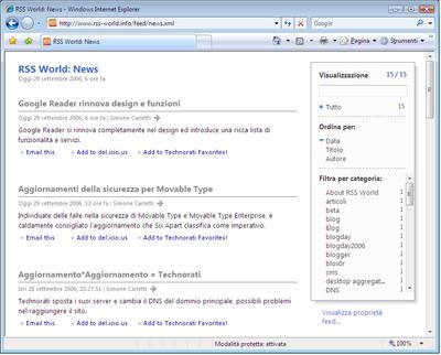 Internet Explorer 7 Feed