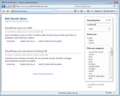 Internet Explorer 7 Sidebar