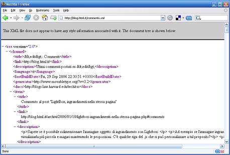 Visualizzazione Firefox 1.5.x