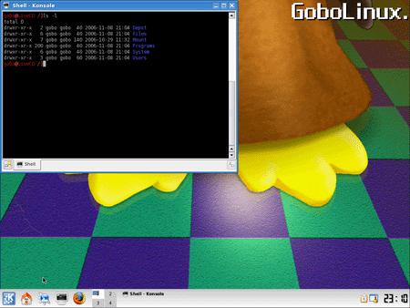 L'interfaccia di GoboLinux