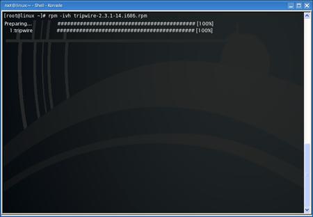 Tripwire non richiede dipendenze da soddisfare, ma ricordatevi di eseguire l'installazione con i privilegi di root.