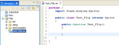 Interfaccia Flex Builder