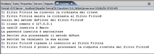 Risultato console di Java