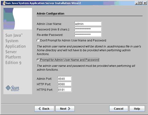 Configurazione Admin