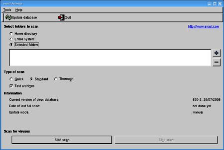 la spartana interfaccia utente di Avast