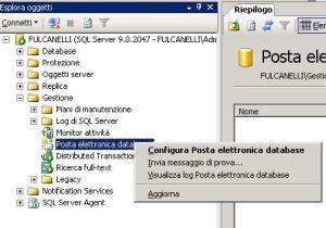 Abilitare Datababse Mail via SQL Server Management Studio
