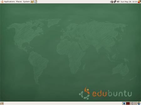 Il desktop di Edubuntu