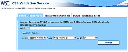 il validatore W3C