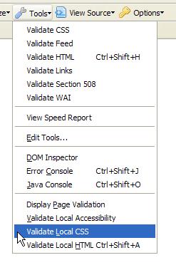 wev developer toolbar