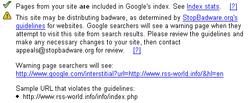 Notifica via Google Webmaster Tools