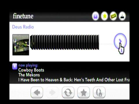 Schermata dal sito FineTune