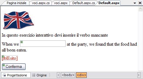 La pagina Default.aspx