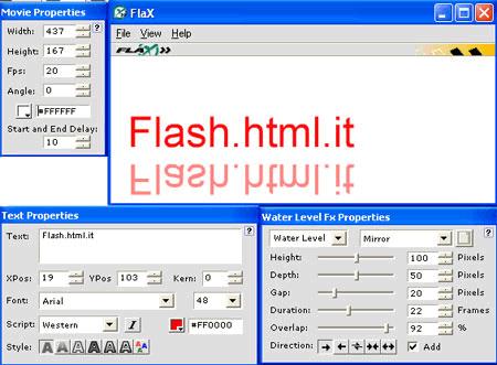 Interfaccia di FlaX