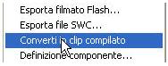 Convertire clip compilato