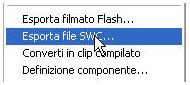 Esporta file SWF