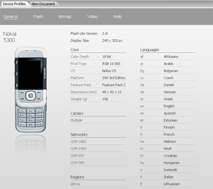 Scheda Nokia 5300