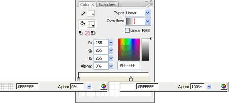 Pannello colori e dettaglio dei due colori usati