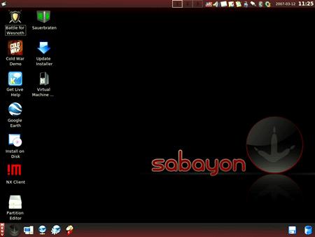 Il desktop di Sabayon