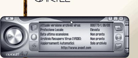 Interfaccia utente di Avast!