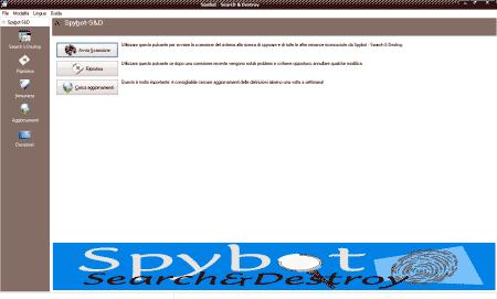 Interfaccia di SpyBot