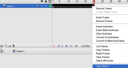 Screenshot della linea temporale