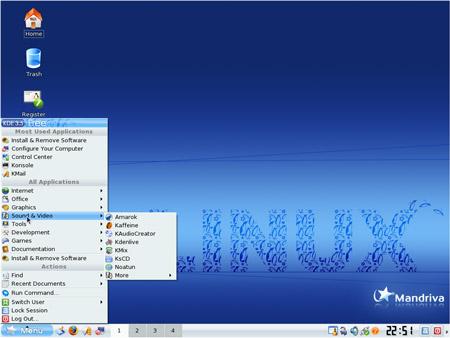 Desktpo di Mandriva Linux 2008
