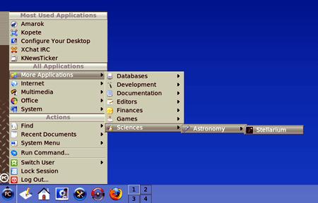 l Desktop di PCLinuxOS