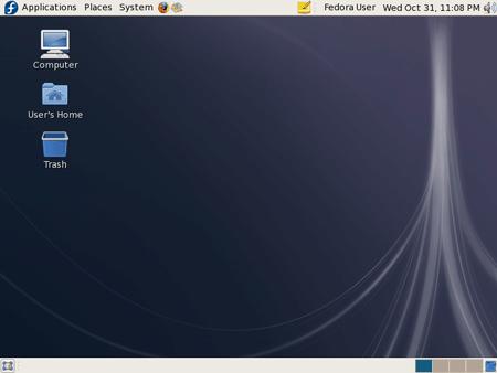 Il desktop di Fedora 8
