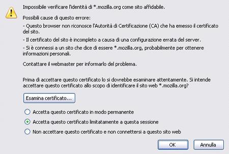 Certificato in Firefox